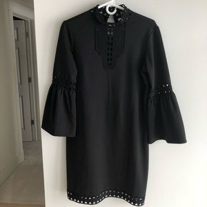 Max Studio black dress with bell sleeve